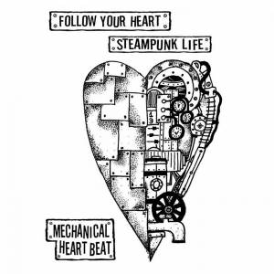 Gumové (cling) pečiatky MECHANICAL HEART